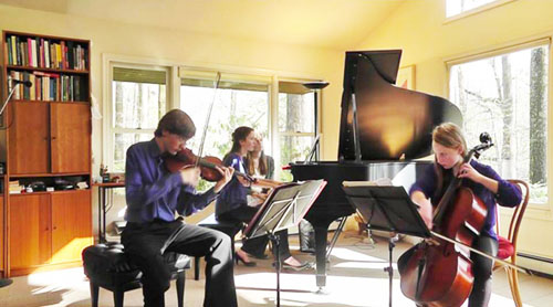 Pianist, Maria Brock, Violinist, Fedor Ouspensky and Cellist, Mairead Flory perform the 3 Muses at the 2012 Rustic Way Chamber Music Series.